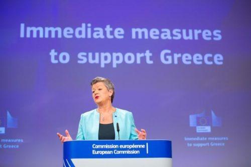 EU-Innenminister unterstützen Sofortmaßnahmen für Griechenland