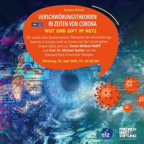 Online-Veranstaltung: Verschwörungstheorien in Zeiten von Corona – Wut und Gift im Netz