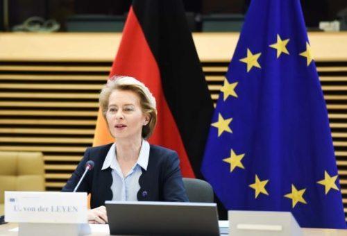 Virtueller Berlin-Besuch der Kommission heute: Von der Leyen strebt rasche Einigung über das europäische Konjunkturpaket an