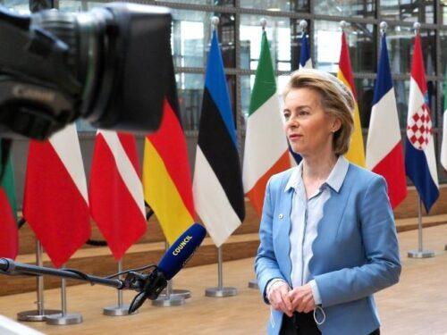 """Ursula von der Leyen beim EU-Gipfel: """"Ich bin für heute positiv gestimmt"""""""
