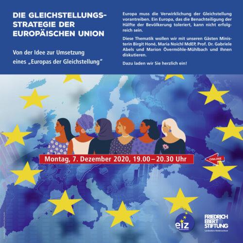 """Online-Veranstaltung: Die Gleichstellungsstrategie der Europäischen Union – Von der Idee zur Umsetzung eines """"Europas der Gleichstellung"""""""