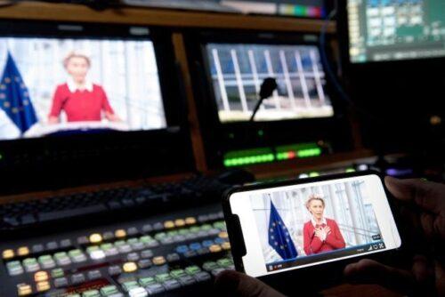 """Von der Leyen bei EU-Botschaftern: """"Europa sollte die Initiative für eine neue transatlantische Agenda ergreifen"""""""