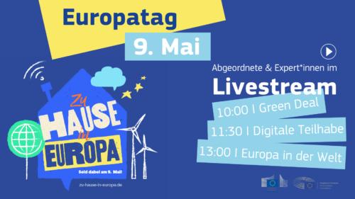 Zukunftsthemen am Europatag: Tausende folgen Diskussionen über Grünen Deal, digitale Teilhabe und Europa in der Welt