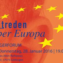 """Mitreden über Europa"" am 28. Januar in Göttingen"